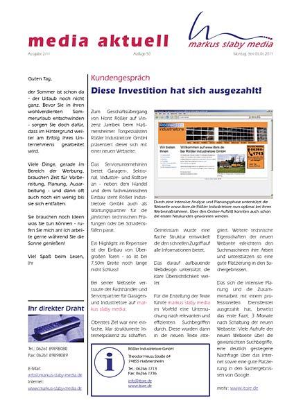media aktuell 2-2011: Bestandskunden-Marketing