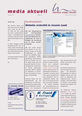Titelbild media aktuell 3-2009