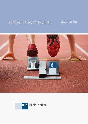 Deckblatt Jahresbericht 2008 der IHK Rhein-Neckar