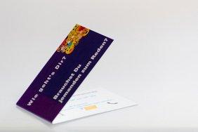 Visitenkarte klappbar