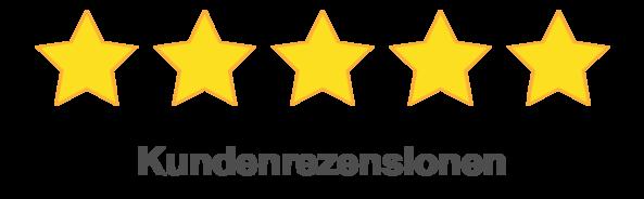 5 Sterne Bewertungen bei Google