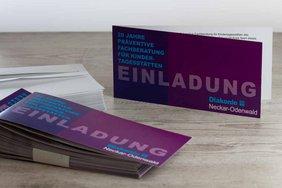 Einladungskarte Jubiläum Corporate Design