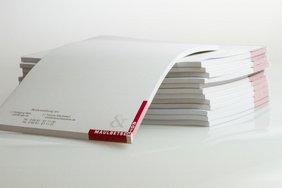 Notizblöcke in individuellem Design