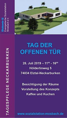Anzeige Tag der offenen Tür Tagespflege Neckarburken