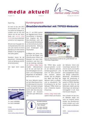 media aktuell 1-2012: Presse vs. Wirtschaft