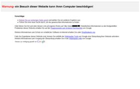 Malware Warnung von Google - Screenshot