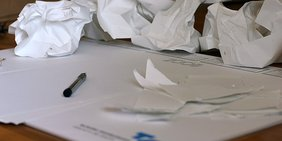 weißes Blatt Papier