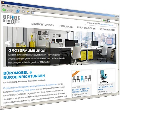 Webseite OFFICE KOMPLETT