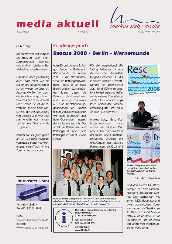 Titelbild media aktuell 3/2008