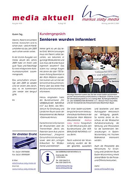 Titelbild media aktuell 4-2009