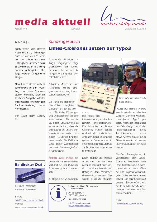 Titelblatt media aktuell 1-2010