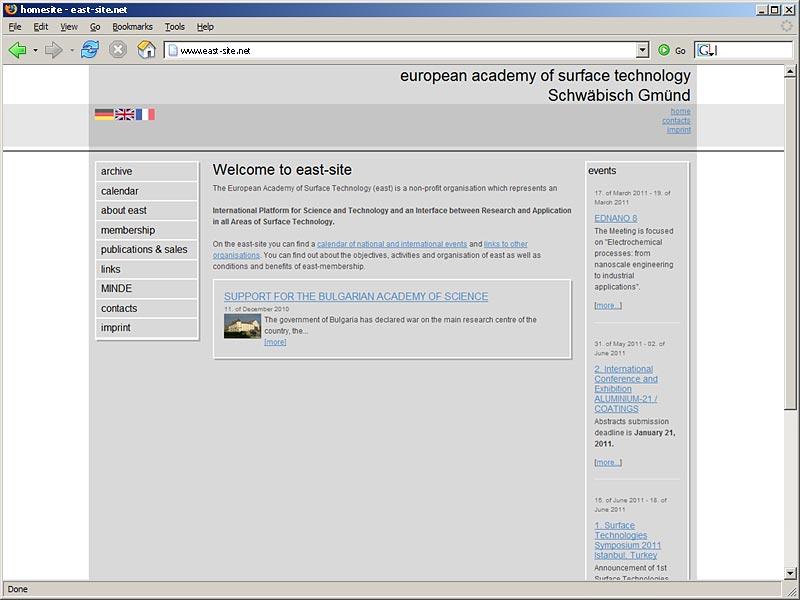 TYPO3 Webseite