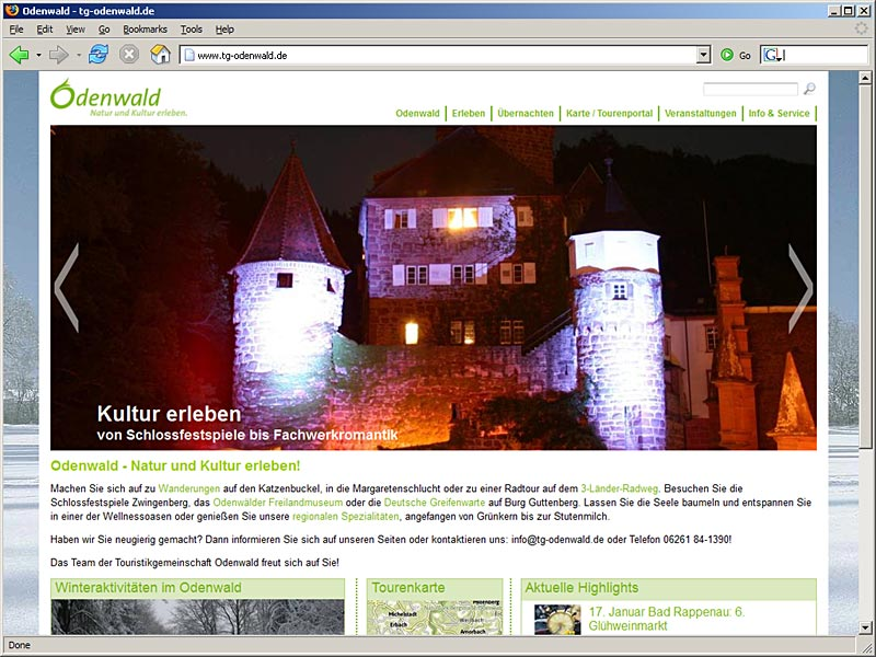 Screenshot www.tg-odenwald.de