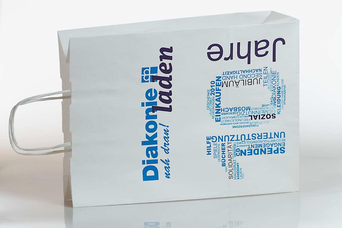 Papiertasche im Corporate Design